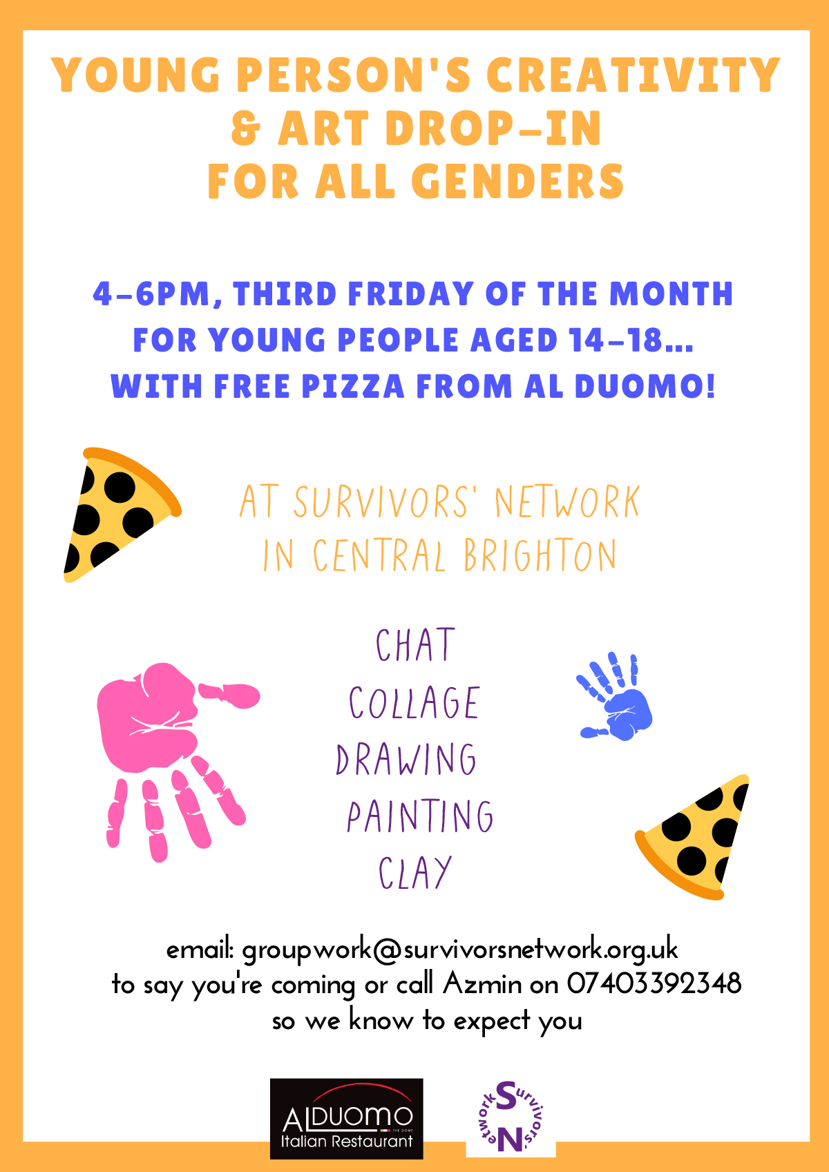 poster image for young people art therapy