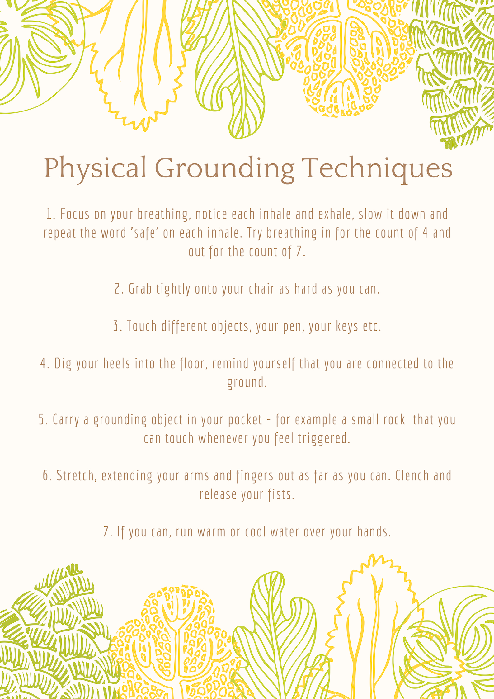 Physical Grounding Techniques Poster