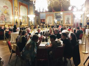 View of diners in in the Royal Pavilion