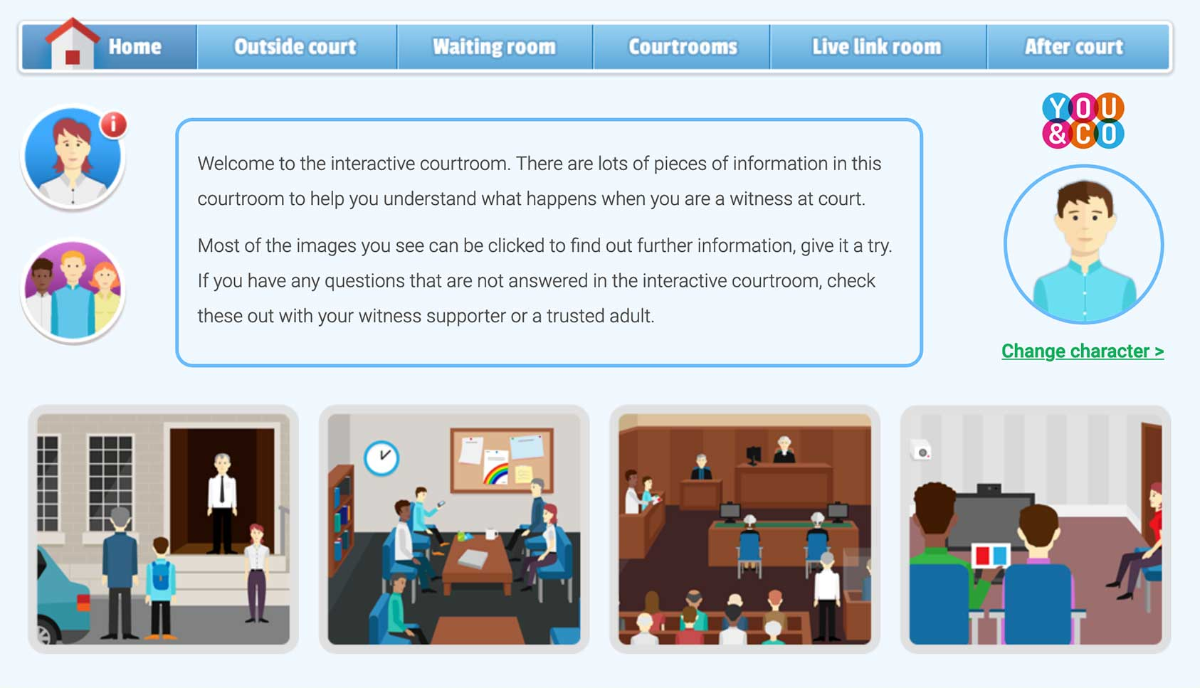 Interactive Courtroom screenshot