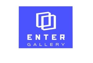 Enter Gallery logo (blue box with two white boxes overlapping with the gallery name below).