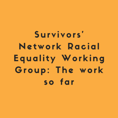 Survivors' Network Racial Equality Working Group: The work so far
